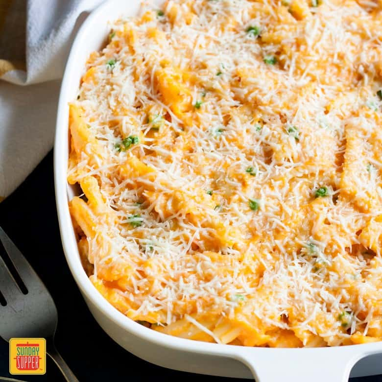 Sweet Potato Mac and Cheese Casserole