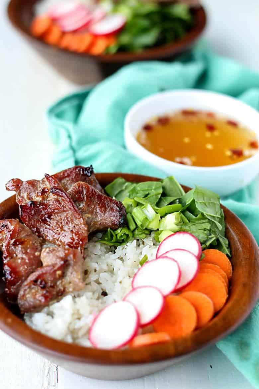 Vietnamese Pork Rice Bowls