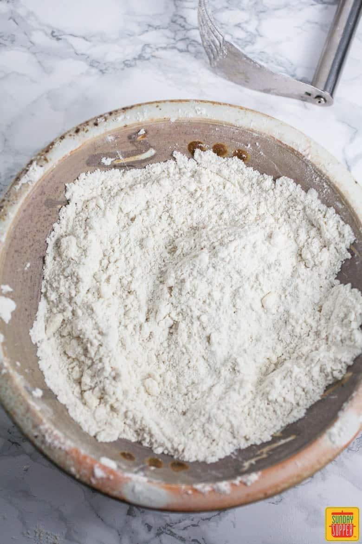 Gluten Free Biscuits dry ingredients