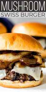 Save Mushroom Swiss Burger on Pinterest