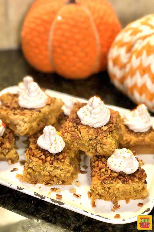 Pumpkin crunch cake squares