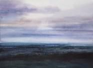 David Parfitt RI, Wetland Blues - watercolour 56 x 70 cm