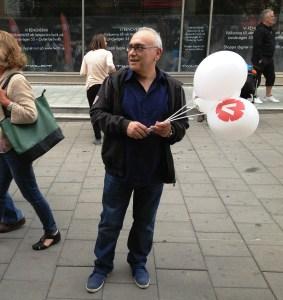 sasan med ballonger