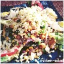 Salat med fine kyllingestykker