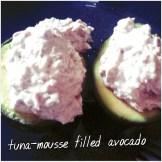 Avocado med tunmoussefyldt