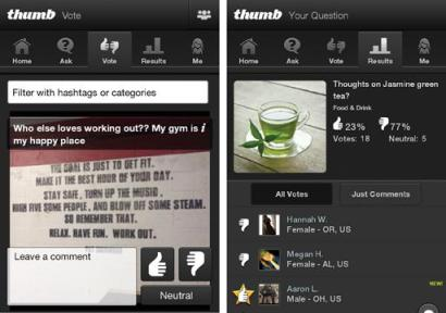 Thumb lets you ask questions and give feedback on the little things that can cause a quandary in every day life.