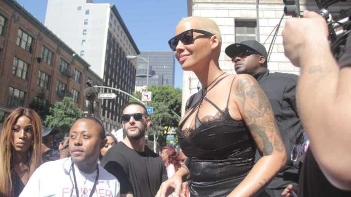 Amber Rose at her Slutwalk in Downtown LA