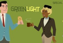 Greenlight logo with special guests: Ebony and Daisy