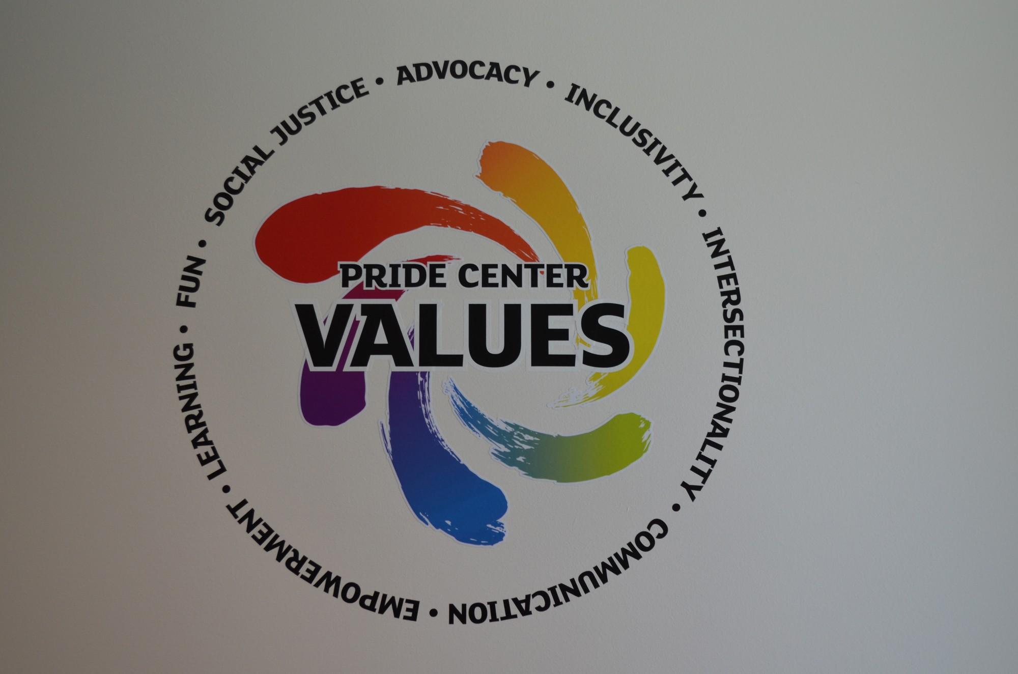 Color printing csun - The Pride Center S Logo And Values Add A Splash Of Color To The White Wall It Rests On The Rainbow Motif Became A Symbol Of The Lgbt Community In The Late