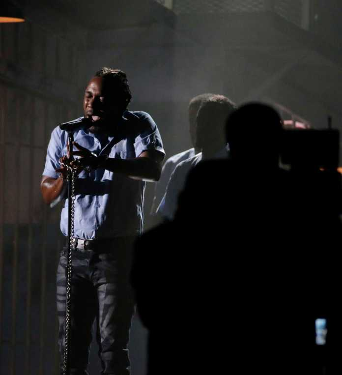 Kendrick Lamar performs at the Grammy's