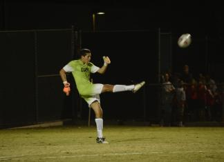 CSUN goalie kicks the ball down the field