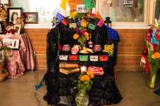 Photo shows student-made altar