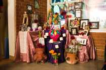 Photo shows alter for deceased family