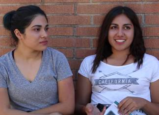 2 CSUN students shown being interviewed