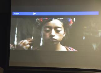 little girl pictured in a still from Ixcanul