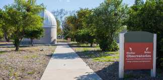 The observatories located in the orange grove at csun pictured