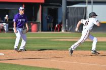 CSUN player runs to second base