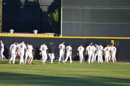 CSUN players regroup after game