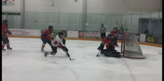 CSUN player takes a shot at the goal