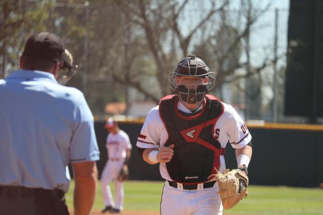 csun player runs back to home plate
