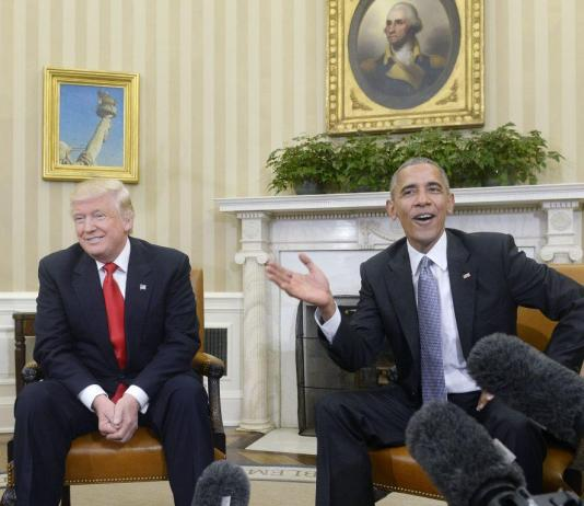 photo is from Obama's meeting with Trump