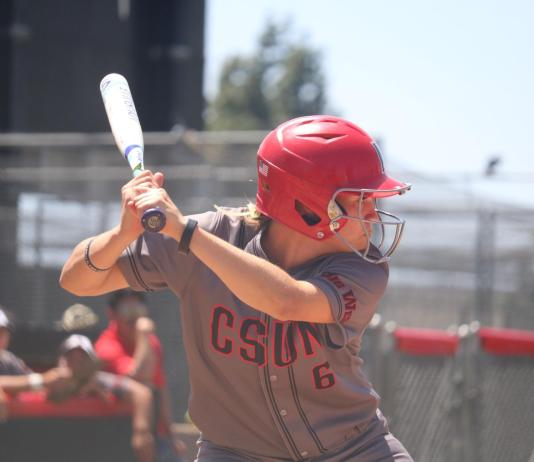 Madison prepares to swing at the ball