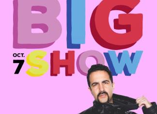 """Ad shows big letters that read, """"Big Show Oct 7"""" along with a photo of performer Valentino Khan"""