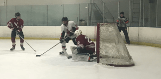 CSUN hockey team in action
