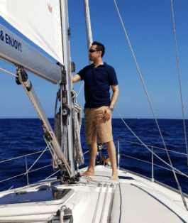 Sailing in the Atlantic Ocean