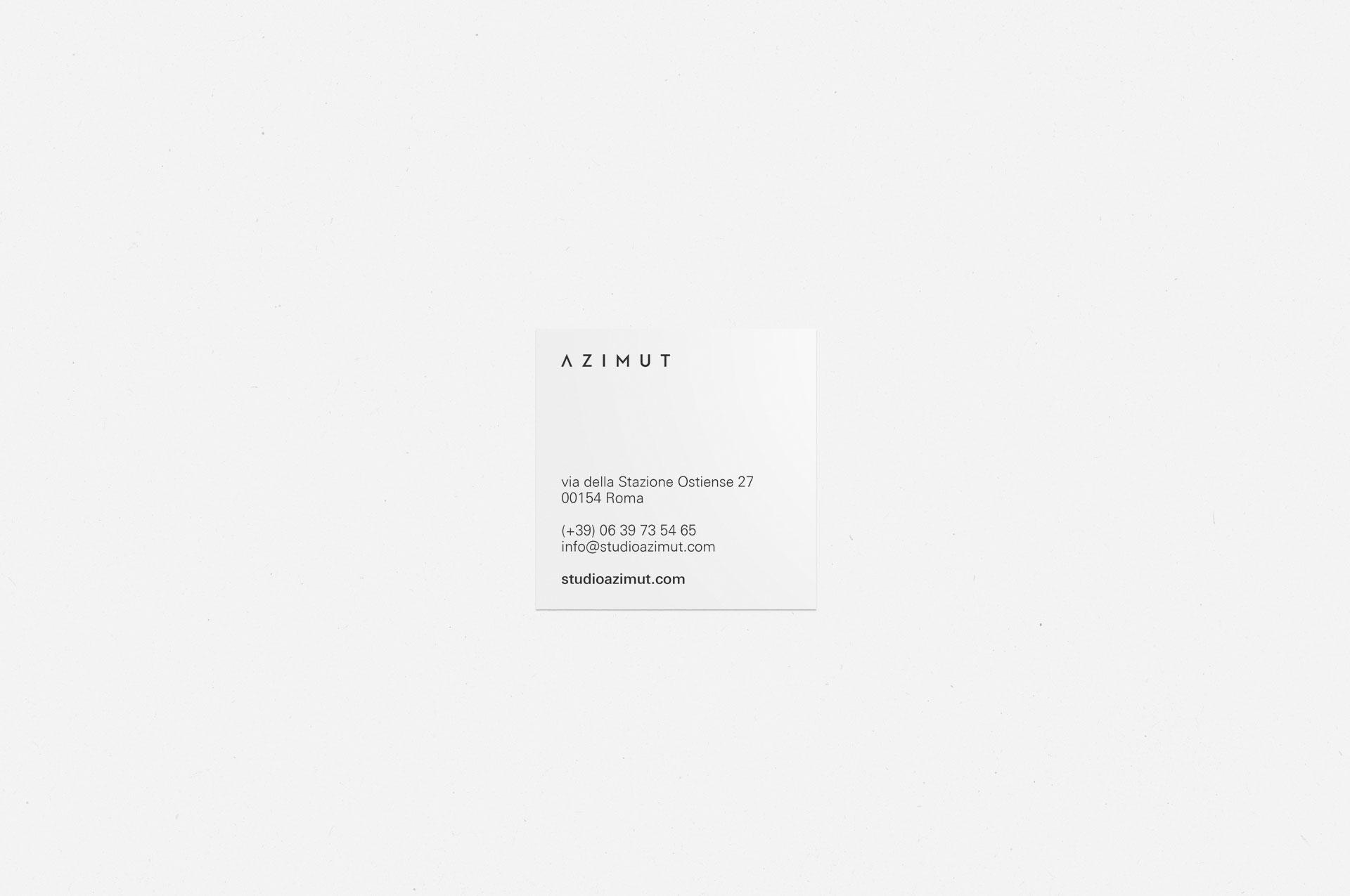 Studio Azimut Business Cards