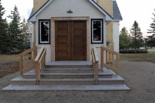 Newly installed exterior doors (24-Oct-2014)