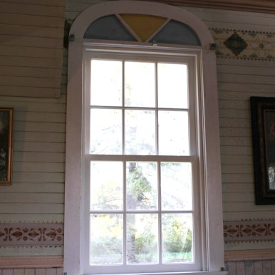 Newly installed north side window - interior view (23-Sep-2013)