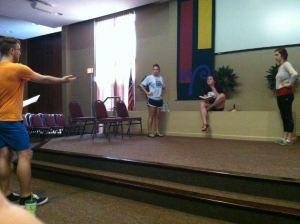 outspoken rehearsal