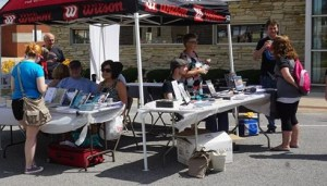 The Sundress Publications tent in action!