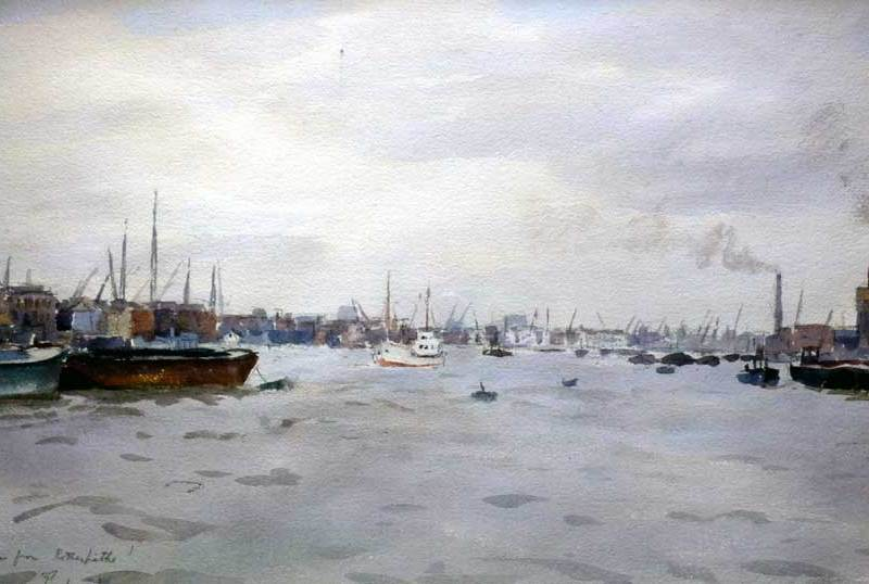 Llewellyn Petley Jones, Thames from Rotherhithe
