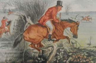 Mr Sniggins, FSF Antique Foxhunting watercolour