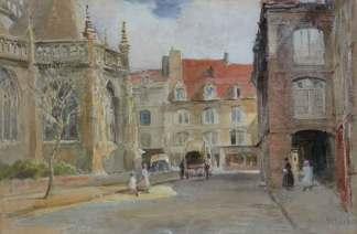 Street Scene, France , Alfred Hart