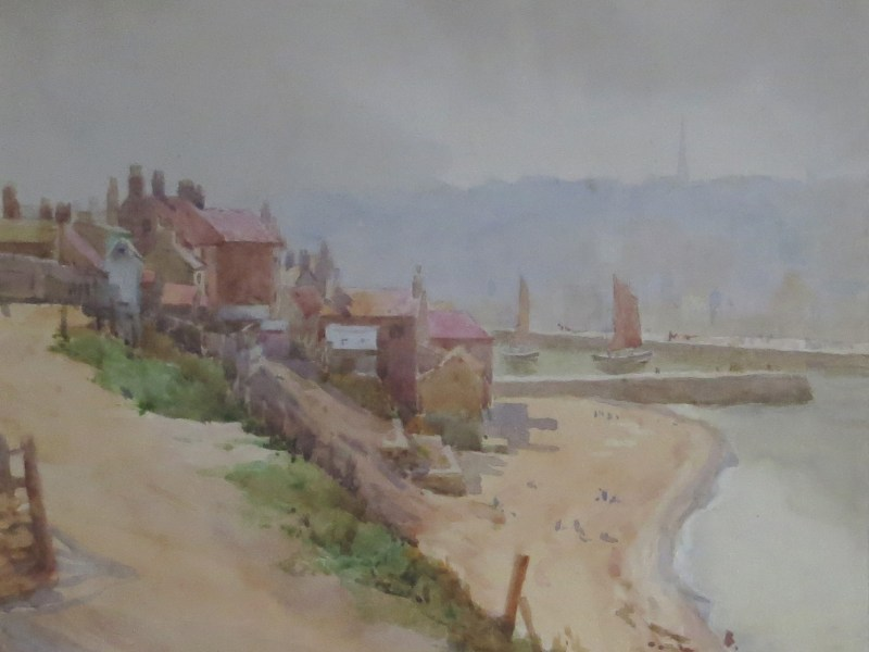 painting of Whitby, Herbert Wilson Foster