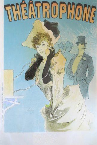 Jules Chéret Framed Théâtrophone Poster