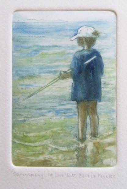 Boy Shrimping