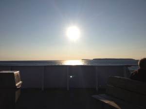 morning sun over Georgian Bay from the Chi Chi