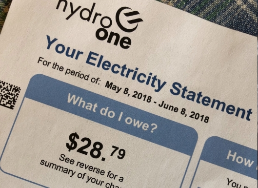 Hydro bill too high