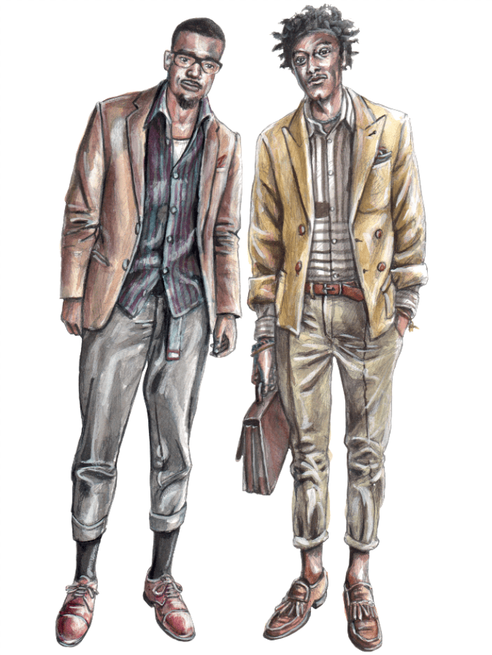 Fashion sketch men