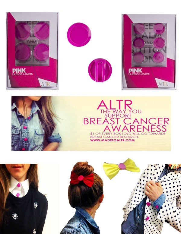 ALTR Pink Button Covers