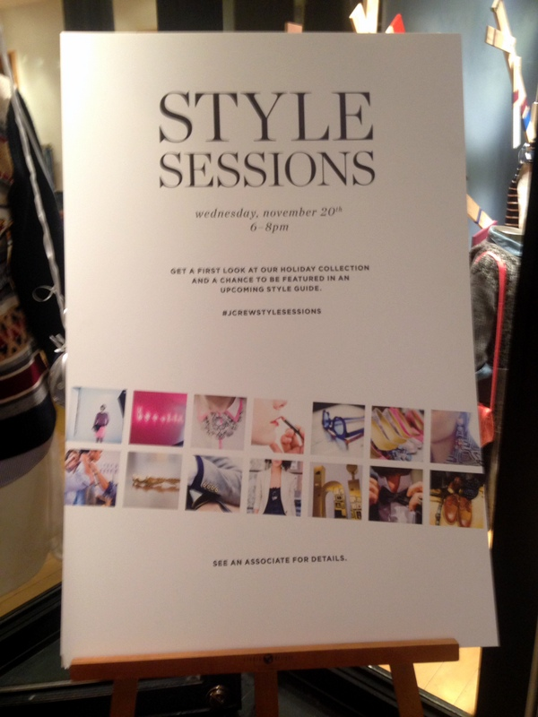 J Crew Style Sessions