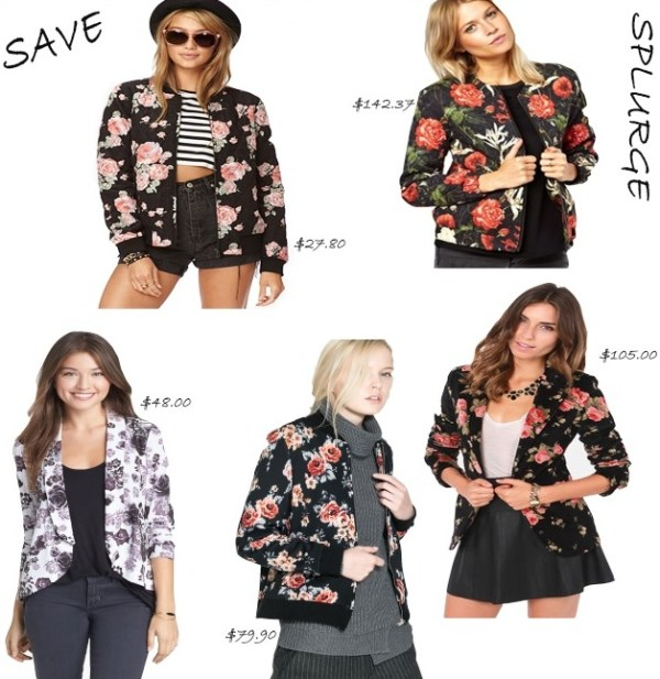 Floral Jackets and Blazers.