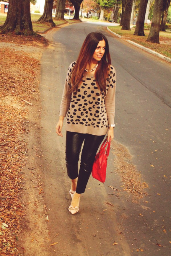 Leopard & Leather Outfit, Jaime Cittadino