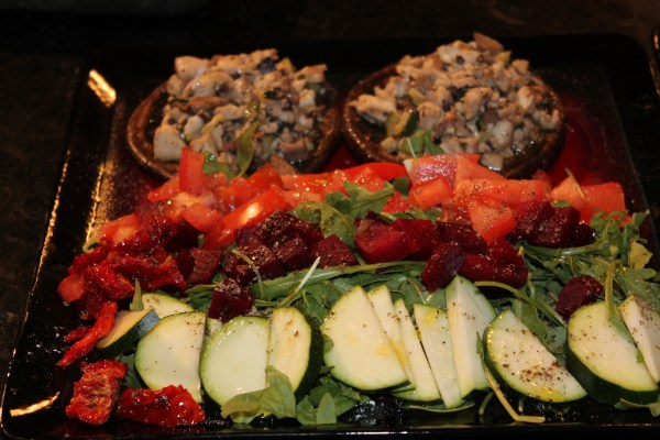 Tilapia stuffed mushrooms