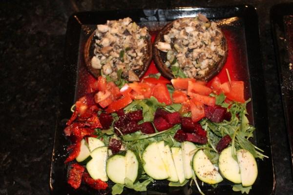 Portobello Mushrooms stuffed with Tilapia