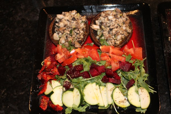 Portobello Mushrooms stuffed with Tilapia
